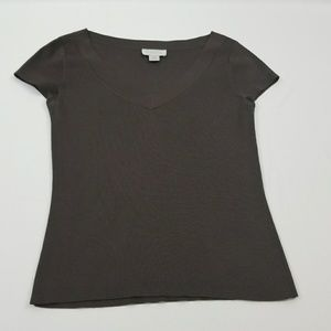 Ann Taylor loft Brown fitted sweater